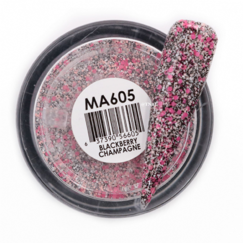 GLAM AND GLITS MATTE ACRYLIC - MAT605 BLACKBERRY CHAMPAGNE